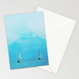 sailing blue Stationery Cards
