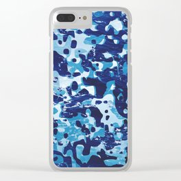 Surfing Camouflage #1 Clear iPhone Case