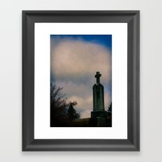 Grave on the Hill Framed Art Print