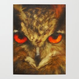 The owl by Brian Vegas Poster