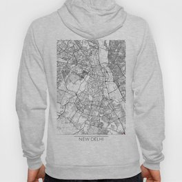 New Delhi Map White Hoody