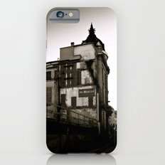 Vintage City, Black and White, Sepia Color, Brussels, Bruxelles, Belgium, Old houses, Street Art Slim Case iPhone 6s