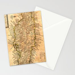 Vintage Map of Jamaica (1771) Stationery Cards