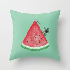 Summer Climb Throw Pillow