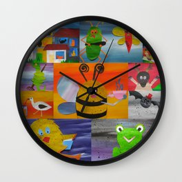 animals that rhyme- can you work this one out? Wall Clock