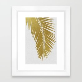 Palm Leaf Gold I Framed Art Print