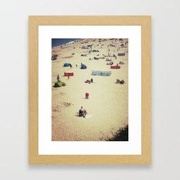 Beach (English Riviera) Framed Art Print