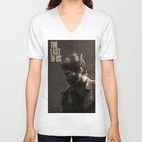 the last of us V-neck T-shirts featuring The Last Of Us by MCMLXXXV DESIGN