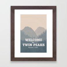 Welcome to Twin Peaks v2 Framed Art Print