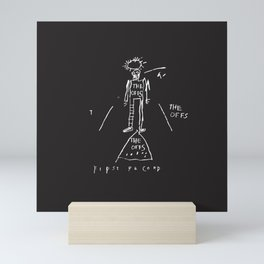 80s Punk Rock, ska record cover, Vectorised Basquiat Mini Art Print