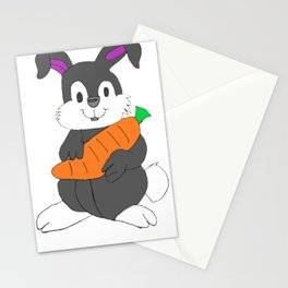 Funny Bunny Carrot - Hand drawn by my 7 year old daughter  Stationery Cards