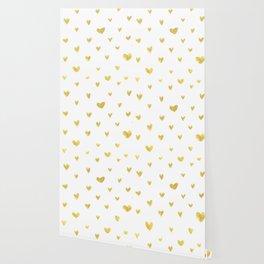 Golden Hearts Wallpaper