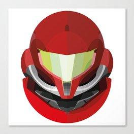 Samus Varia Suit Helmet Canvas Print