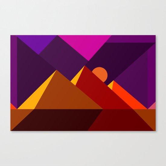 Road to Giza Canvas Print