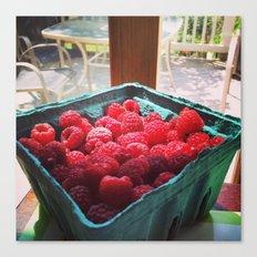 Raspberry Harvest Canvas Print
