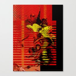 Flor kitsch I love Canvas Print