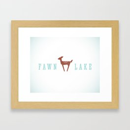 FAWN LAKE Framed Art Print