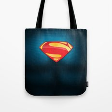 Man of Steel Suit Tote Bag