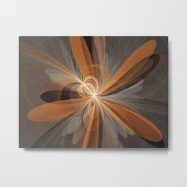 Fractal Shapes Of Fantasy Flowers Metal Print
