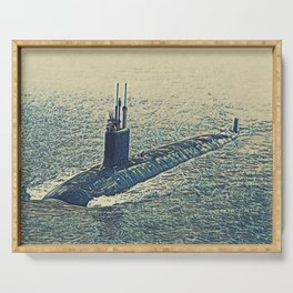 Submarine Touch Condensed Digital Brush Reality Nuclear Powered Serving Tray