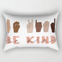 Be Kind Sign Language Rectangular Pillow