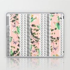 Pattern flowers and cactus Laptop & iPad Skin