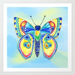 Butterfly IV on a Summer Day Art Print