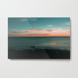 North Beach Sunsets Metal Print