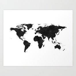 World Map Wall Art,World Map Canvas,World Map Print,World Map Poster,Printable Art,World Map Svg,Wat Art Print