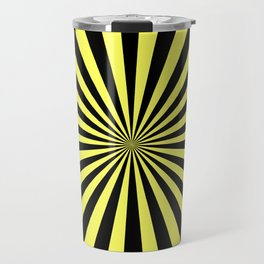 Starburst (Black & Yellow Pattern) Travel Mug