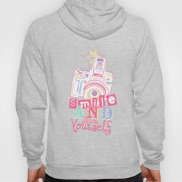 Smile and be Yourself - Pastel Camera Hoody