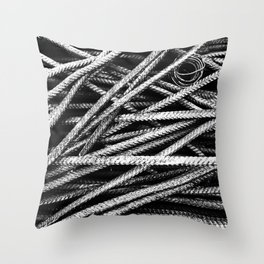 Rebar And Spring - Industrial Abstract Throw Pillow