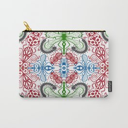 Funny bugs going for a beautiful choreography pattern design Carry-All Pouch