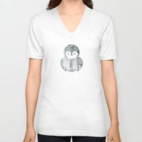 sparrow V-neck T-shirts featuring Sparrow by Wise Idea