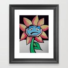Barry the Bipolar marigold  Framed Art Print