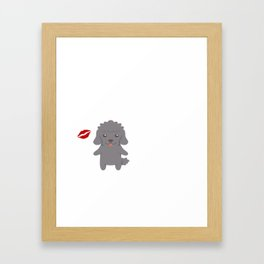 I Kissed A Poodle And I Liked It Cute Dog Kiss Gift Idea Framed Art Print