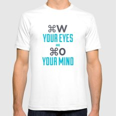 Quote SMALL White Mens Fitted Tee
