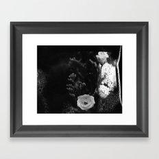 film flowers fire Framed Art Print