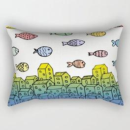 Underwater village II Rectangular Pillow