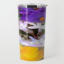 Spring Floral Collage Travel Mug