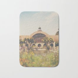 all the colours & curves of the botanical building in Balboa Park, San Diego Bath Mat