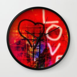 Love Graffiti Wall Clock