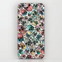 skulls iPhone & iPod Skins featuring Skulls by Devin McGrath