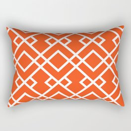 Florida fan gators university orange and blue team spirit football college sports lattice trellis Rectangular Pillow