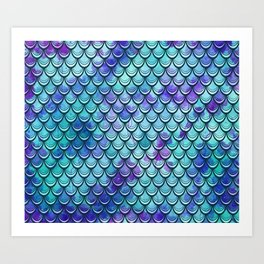 Mermaid Scales Watercolor Art Print