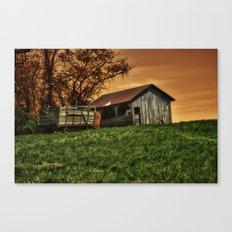Barn on the Hill Canvas Print