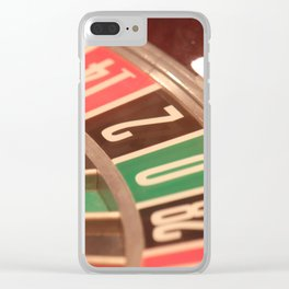 Casino Gambling Roulette Wheel Vintage Retro Style Clear iPhone Case