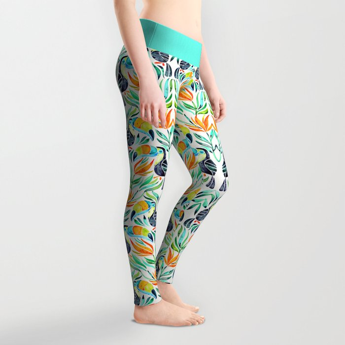 Tropical Toucans Leggings