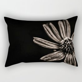 Black and White  Flower photography Rectangular Pillow