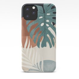 Abstract Art Tropical Leaves  iPhone Case